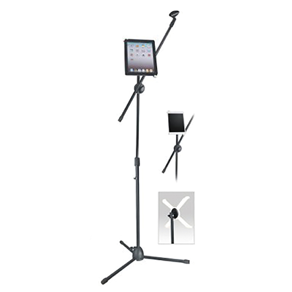 Image of BLACK BOOM MICROPHONE STAND & TABLET HOLDER