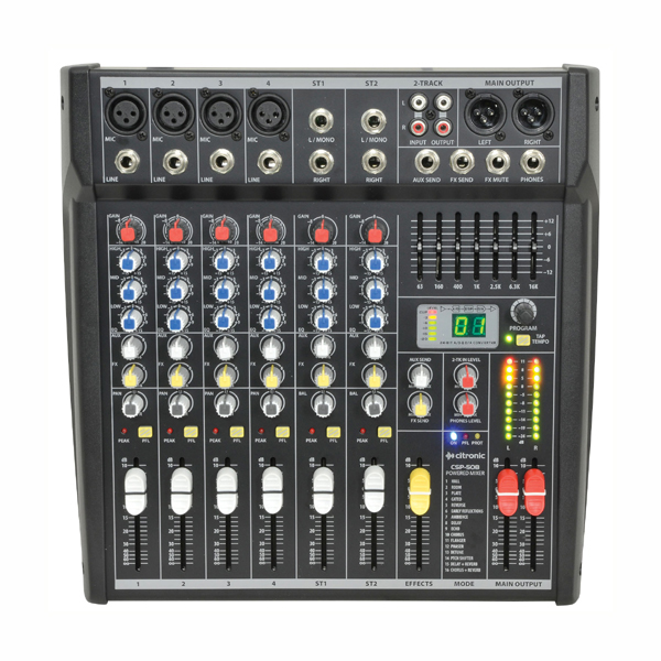 Image of CITRONIC CSP408 POWERED MIXER - 200+200 WATTS