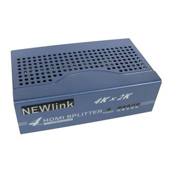 Image of NEWLINK HDSP4 4 PORT HDMI SPLITTER - 4K