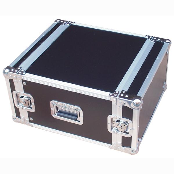 Image of 6U FLIGHT CASE  - BLACK FINISH.