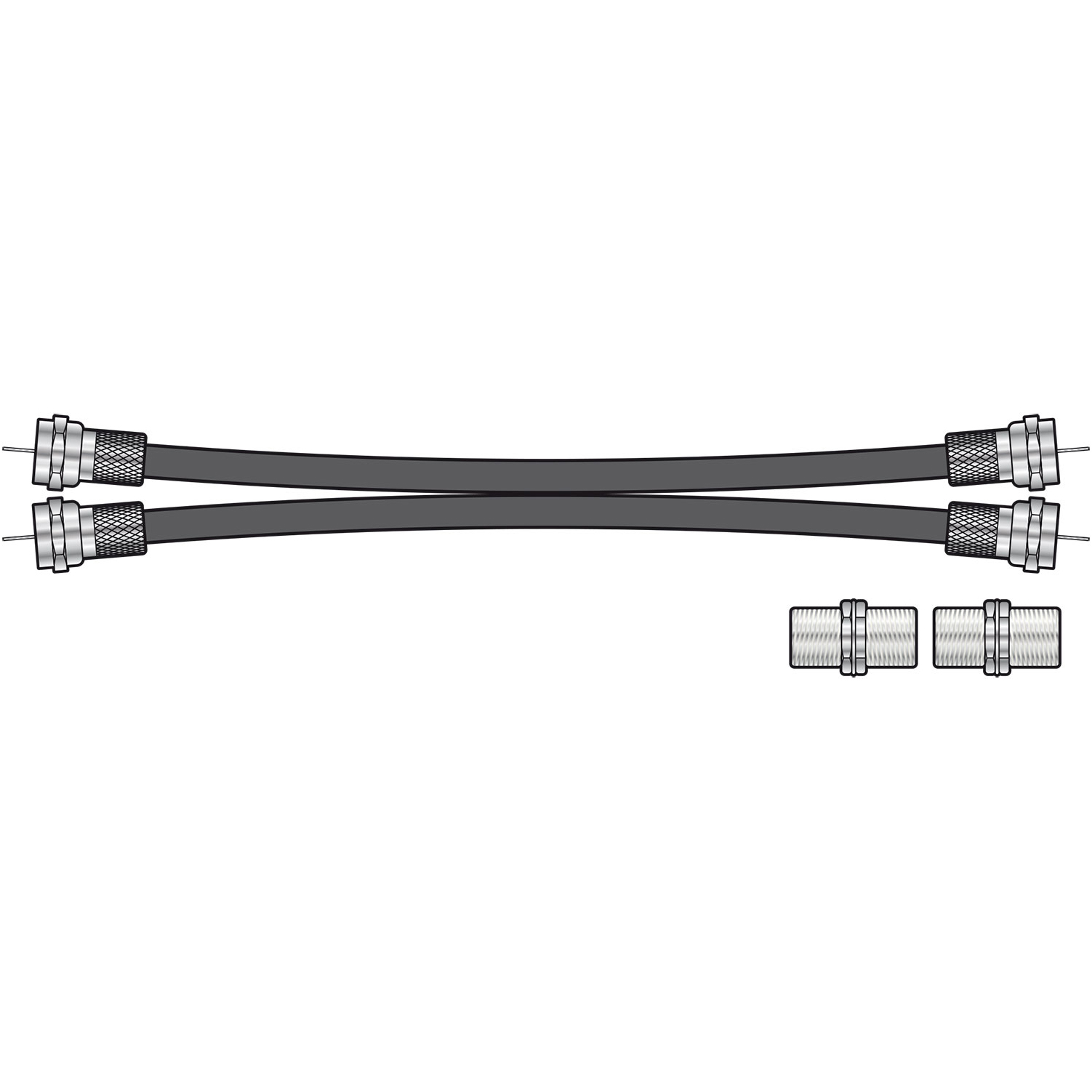Image of F PLUG TWIN EXTENSION LEAD - 5 metres