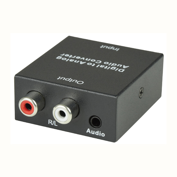 Image of DIGITAL OPTICAL IN TO ANALOGUE RCA OUT AUDIO CONVERTER
